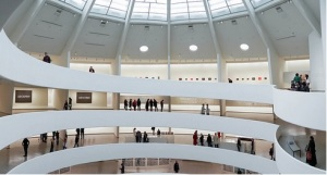On Karawa always wanted to see his work on the timeless, spiritual spiral ramps of the Guggenheim and got his wish. Photo by David Heald