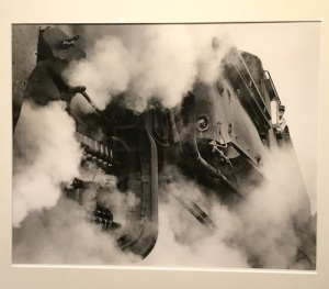 Link's 1960s portrait of steam locomotive fireman, Joe Estes