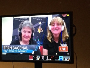 Fran Bagenal, New Horizons's co-PI, and Alice Bowman, the Mission Operation Manager — the first female Mission Operation Manager at APL Johns Hopkins