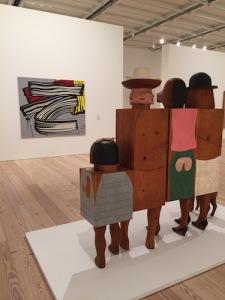 Marisol's Women and Dog group take in Lichtenstein's Little Big Painting