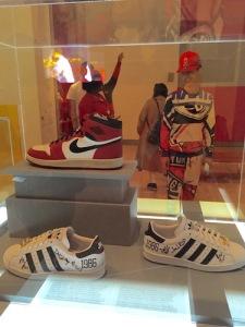 Nike's original Air Jordan I (1985) and the 25th anniversary Run-DMC Adidas brings joy to Brooklyn fans