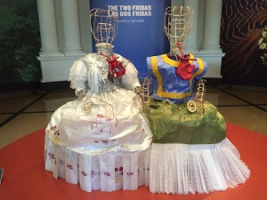 Tissue-paper dresses for The Two Fridas by artist Humberto Spindola