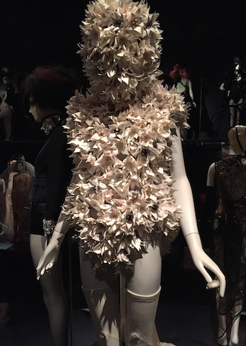 Gareth Pugh 2015 ensemble of paper, Lycra and leather