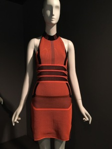 "Alexander Wang's 2015 dress from Nike's ""flyknit"" sneaker fabric"