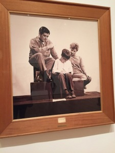 Oscar Bony's photo documentation of his 1968 performance piece, The Working Class Family, which displayed an actual Argentine family at an exhibition