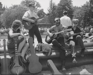 Washington Square Sunday folk singing, early 1960s. Courtesy: MCNY/Nat Norman