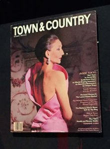 Jacqueline de Ribes on 1983 Town and Country cover by Victor Skrebneski
