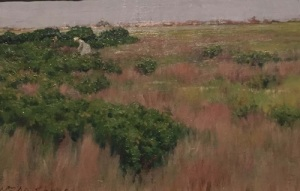 Chase's 1886 oil, Landscape, Near Coney Island