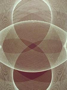 Detail of Generative Painting Transparencies (1965), by Argentine innovator, Eduardo Mac Entyre