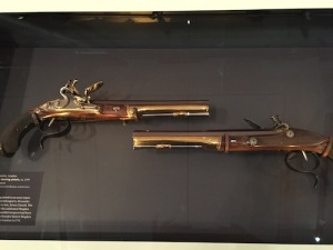 Their 1797 dueling pistols in the NYHS lobby