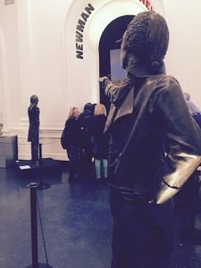 Taking their Shot in the lobby of the Public Theater in 2015