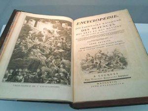 Diderot's 1762-71 encyclopedia on liberal and mechanical arts