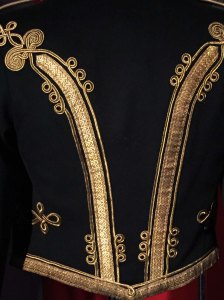 "Detail from British Royal Rifle Corps ""Mess Dress"" Jacket (1900), a possible inspiration for Ralph Lauren"