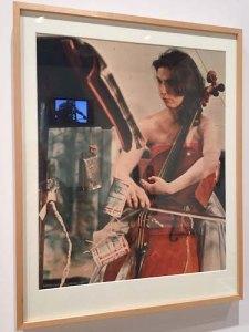 Charlotte performs a John Cage piece at a 1965 Paris art festival
