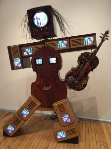 Charlotte Moorman II, a 1995 sculpture-portrait by Nam June Paik. Collection: Brandies
