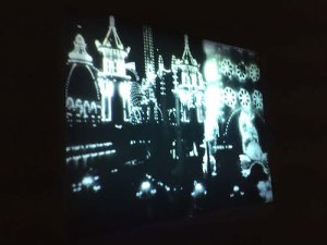 Still from Porter's 1905 film of a real-life electrified dreamland Coney Island at Night