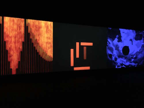 2012 recreation of Fischinger's 1926 three-screen abstract movie Ramlichtkunst