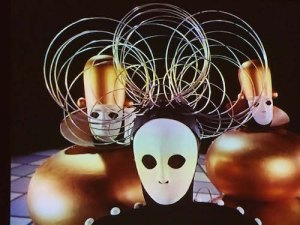 1970 video recreation of Oskar Schlemmer's groundbreaking 1922 Triadic Ballet at the Bauhaus