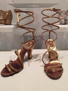 e7e9dd27c5b4 Delman 1948 leather and rhinestone evening sandals
